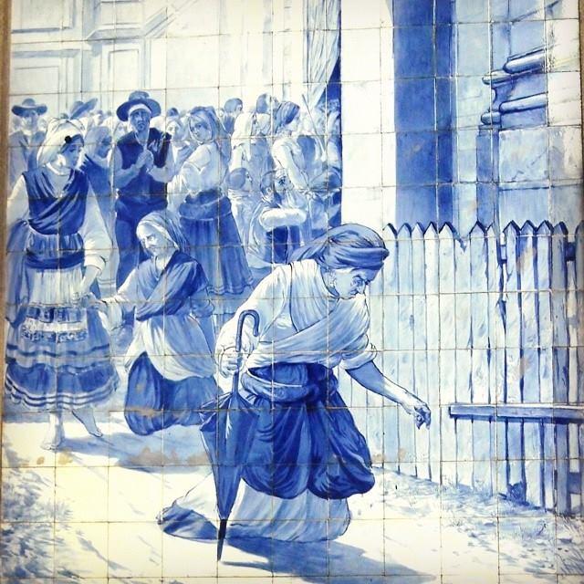 Азулежу на вокзале Сан-Бенту в Порту