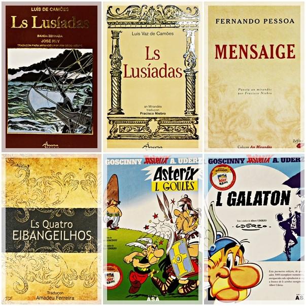 книги, переведённые на мирандкий Амадеу Феррейра (иногда под псевдонимом Франсишку Ньебру)