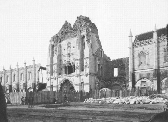 монастырь Жеронимуш в плохом состоянии. 1878 год.