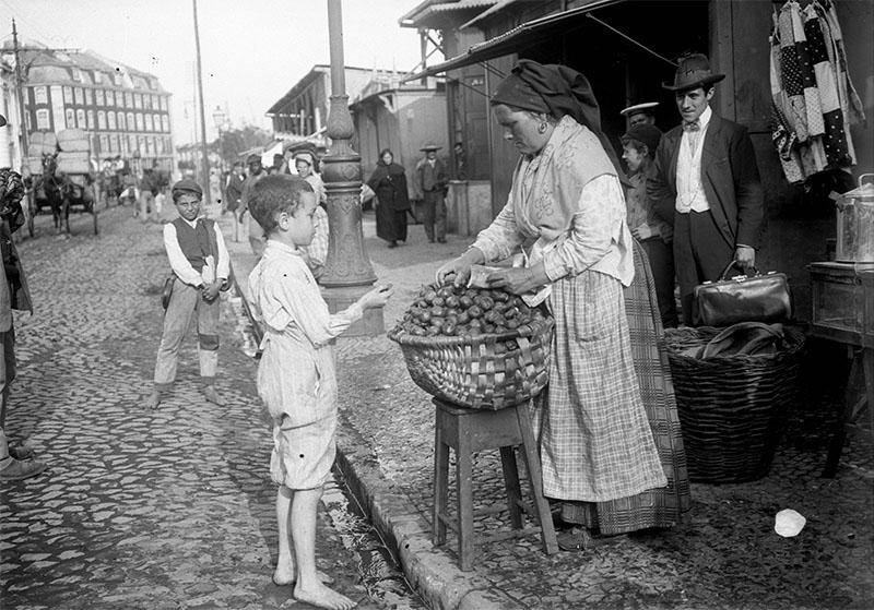 продавщица инжира. 1910 год. Joshua Benoliel